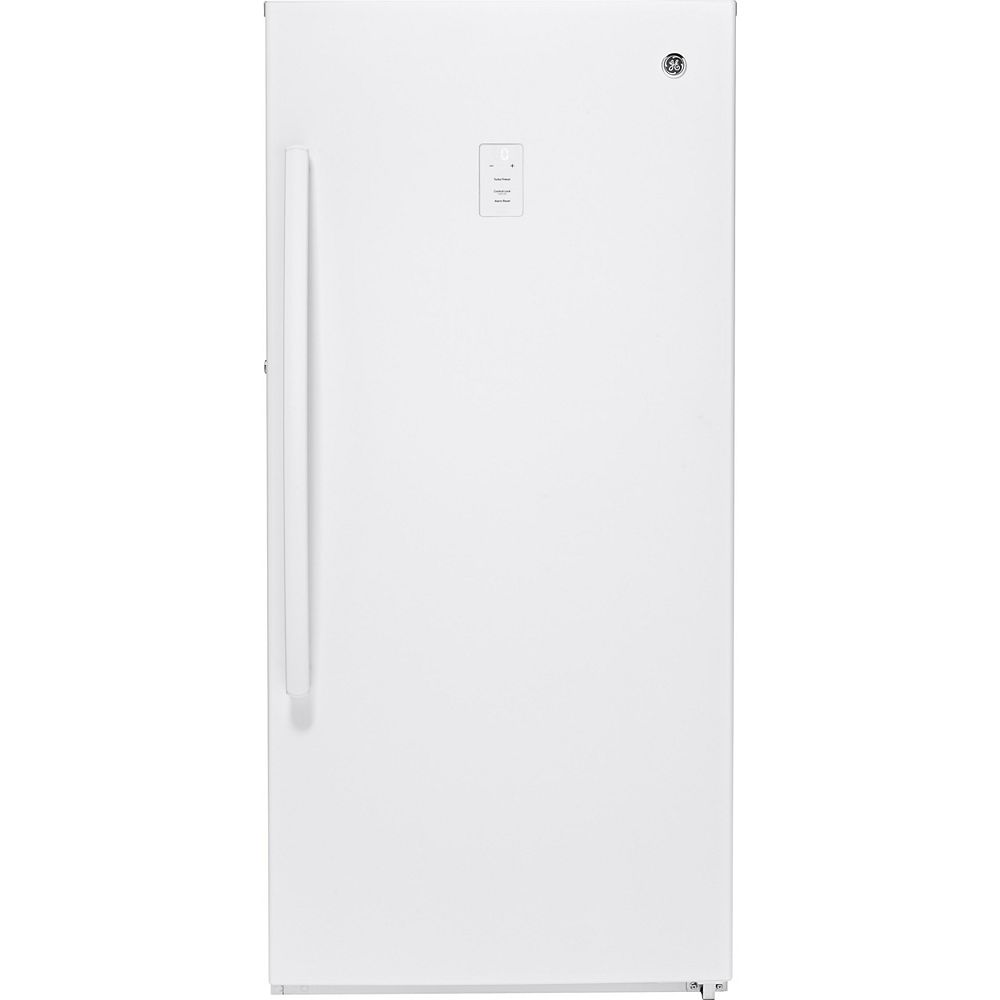 GE Garage Ready 14.1 cu. ft. Frost Free Upright Freezer in White