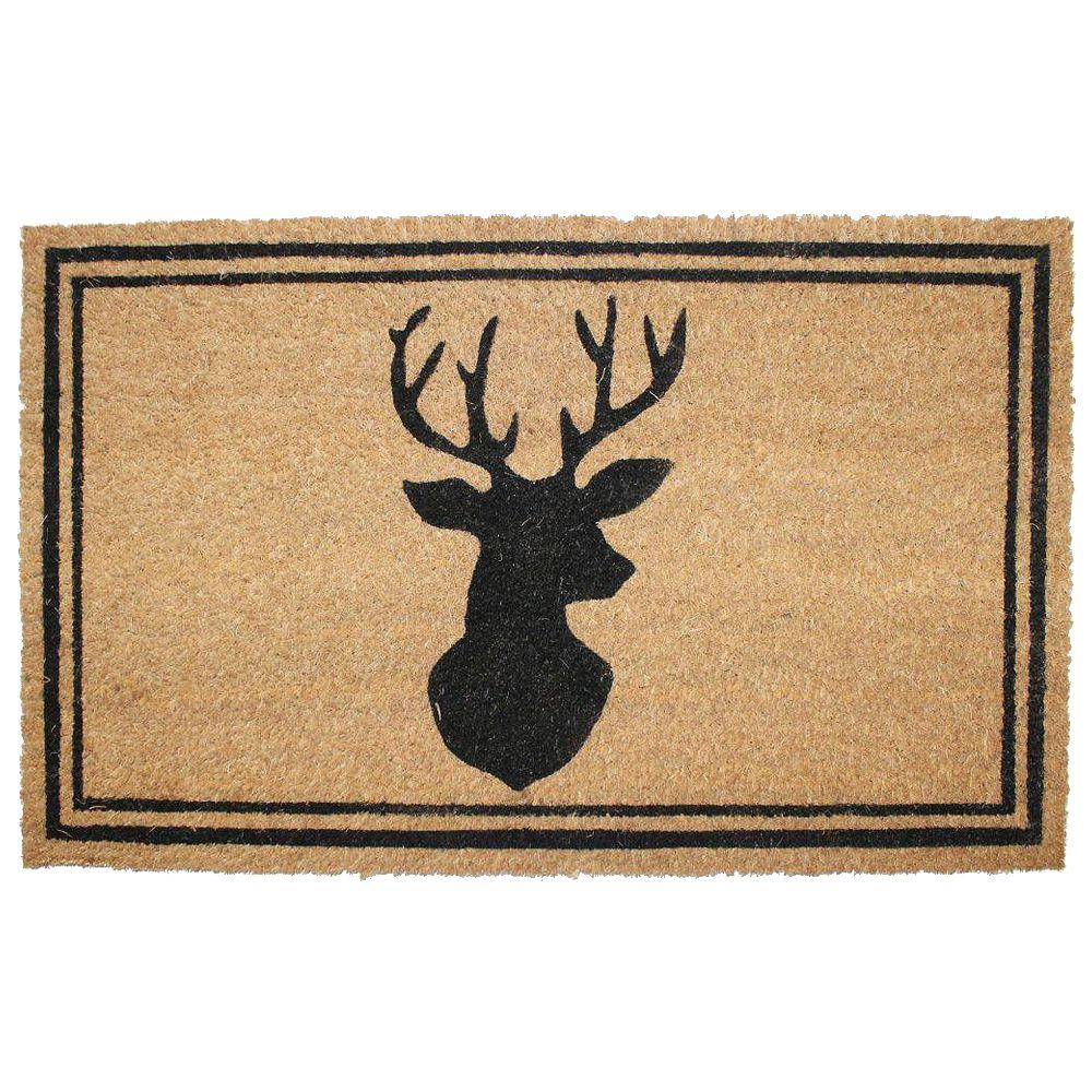 Home Decorators Collection Paillasson en fibre de coco, 18 po x 30 po, wapiti, brun et noir