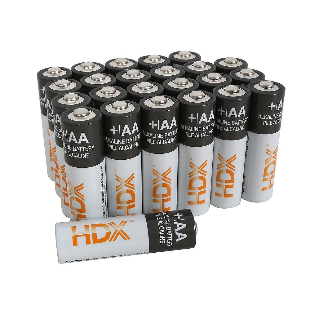 HDX AA Alkaline Battery (24-Pack)