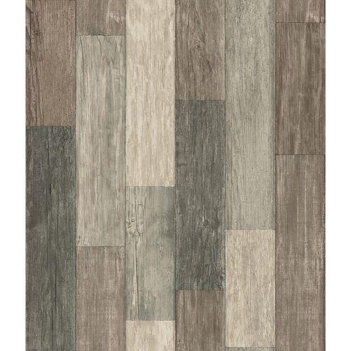 papier peint adhésif planches usées foncées