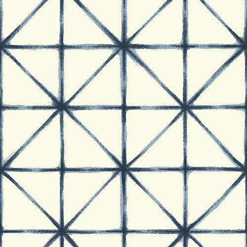 Modern Abstract Blue Peel & Stick Wallpaper