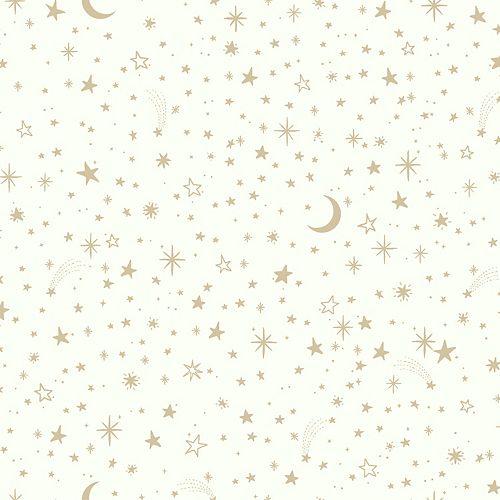 papier peint adhésif petites étoiles dorées