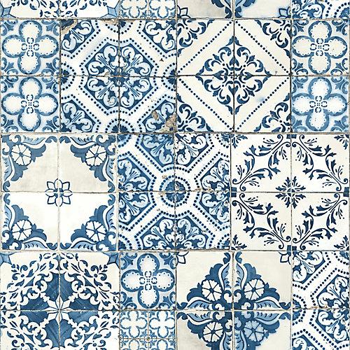 Mediterranean Tile Peel & Stick Wallpaper