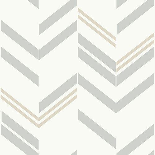 papier peint adhésif chevron gris