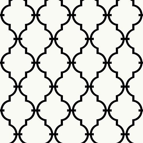 Modern Trellis Peel and Stick Wallpaper