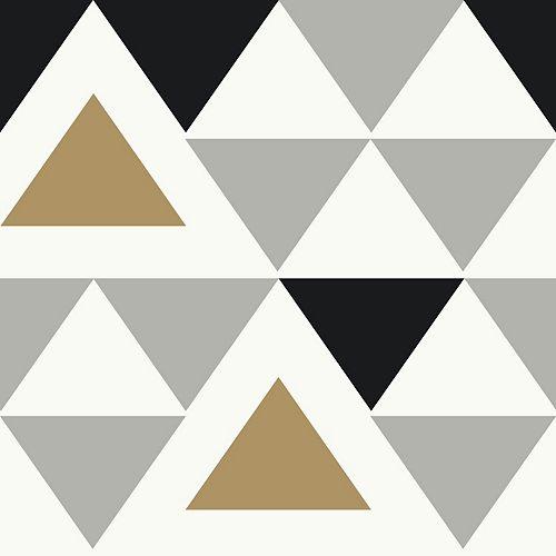 RoomMates Geometric Triangle Peel & Stick Wallpaper
