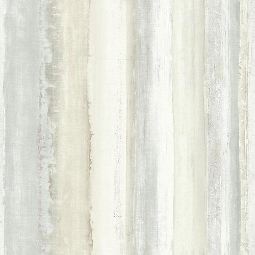 Tan Watercolour Stripe Peel & Stick Wallpaper