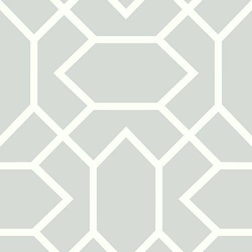 RoomMates Lt Grey Modern Geometric Peel & Stick Wallpaper