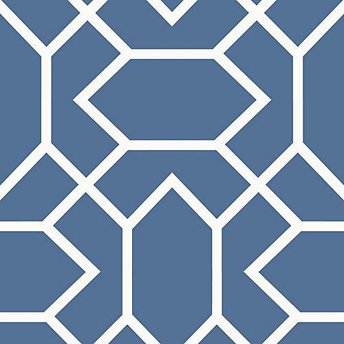 Blue Modern Geometric Peel & Stick Wallpaper