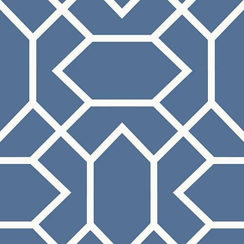 papier peint adhésif geométrique bleu