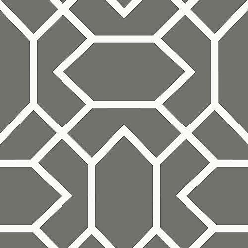 Dk Grey Modern Geometric Peel & Stick Wallpaper