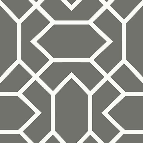RoomMates Dk Grey Modern Geometric Peel & Stick Wallpaper