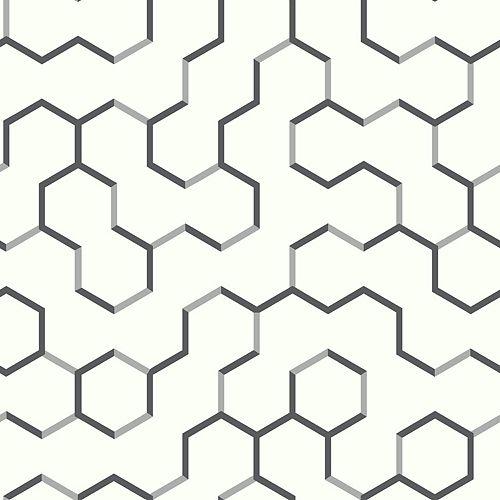 papier peint adhésif geométrique ouvert noir
