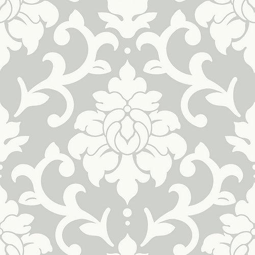 Grey Damask Peel & Stick Wallpaper