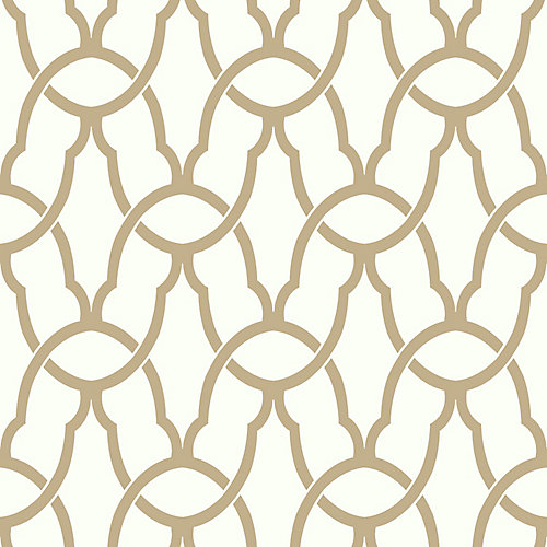 Gold Trellis Peel & Stick Wallpaper