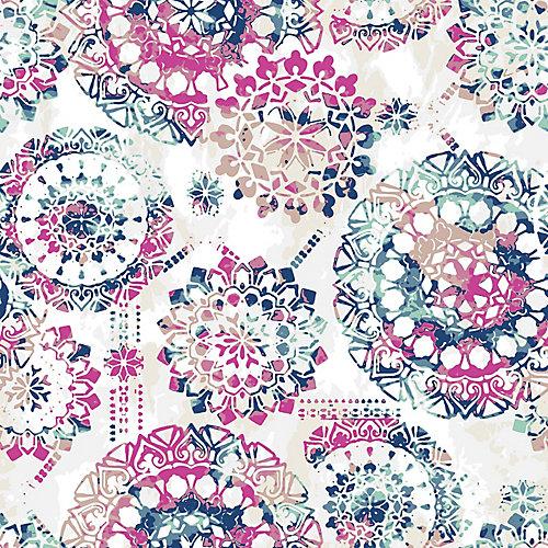 Bohemian Pink/Blue Peel & Stick Wallpaper
