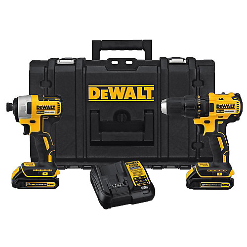 20V MAX Lithium-Ion Cordless Combo Kit (2-Tool) with (2) Batteries 1.3Ah with ToughSystem Case