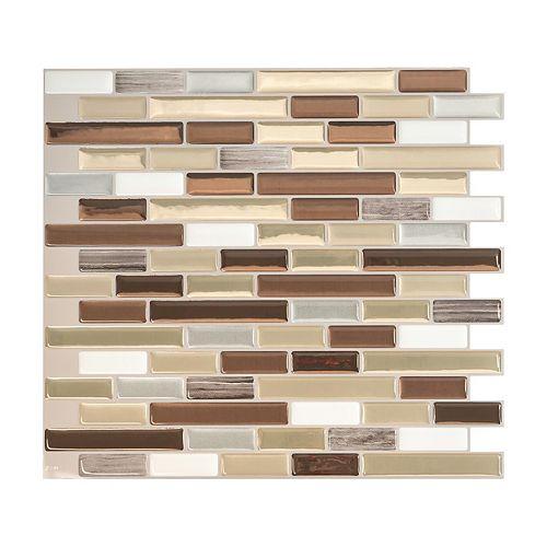 Muretto Durango 10.20-inch x9.10-inch Peel and Stick Decorative Mosaic Wall Tile Backsplash