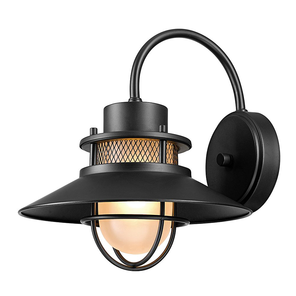 Globe Electric Liam 1-Light Outdoor Wall Sconce in Matte Black