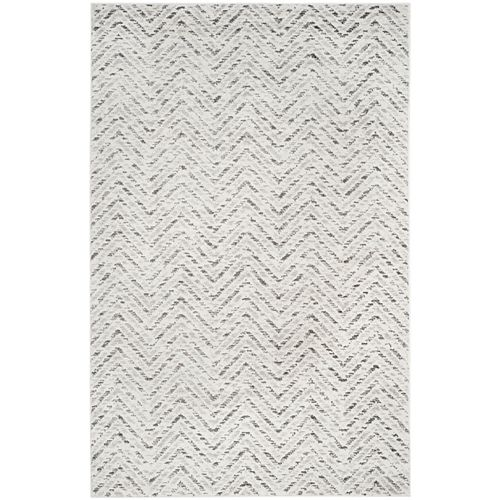 Adirondack Kevin Ivory / Charcoal 6 ft. x 9 ft. Indoor Area Rug