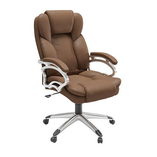 Workspace Executive Office Chair in Caramel Brown Leatherette