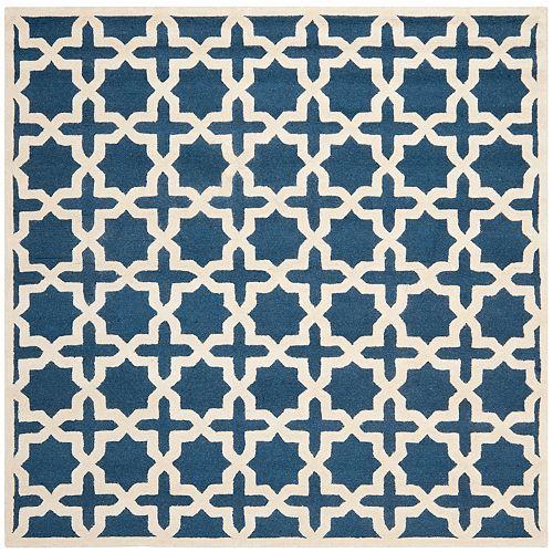 Safavieh Tapis d'intérieur carré, 6 pi x 6 pi, Cambridge Bernadette, marin bleu / ivoire