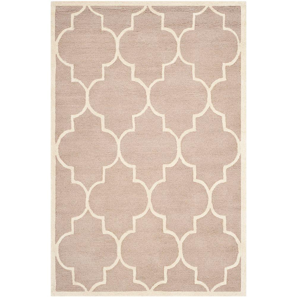 Safavieh Tapis d'intérieur, 4 pi x 6 pi, Cambridge Derek, beige / ivoire