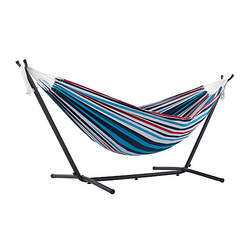 Double Denim Hammock with Stand (9 ft. )