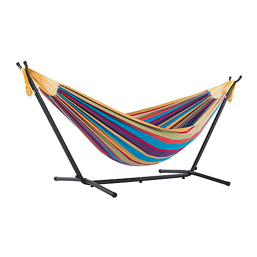 Double Tropical Hammock with Stand (9 ft. )