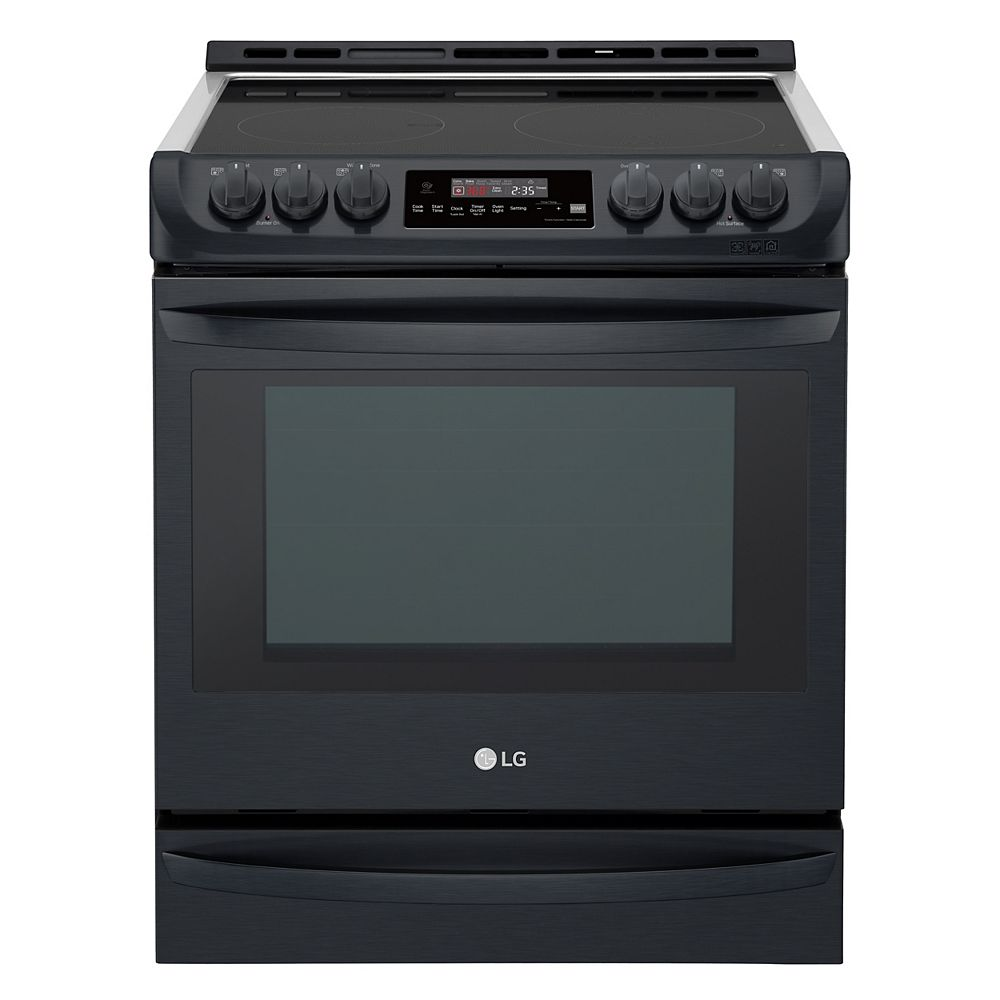 LG Electronics 6.3 cu.ft. Electric Slide-In Range with ProBake Convection and EasyClean® in Matte Black Stainless Steel