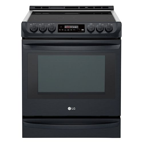 6.3 cu.ft. Electric Slide-In Range with ProBake Convection and EasyClean® in Matte Black Stainless Steel