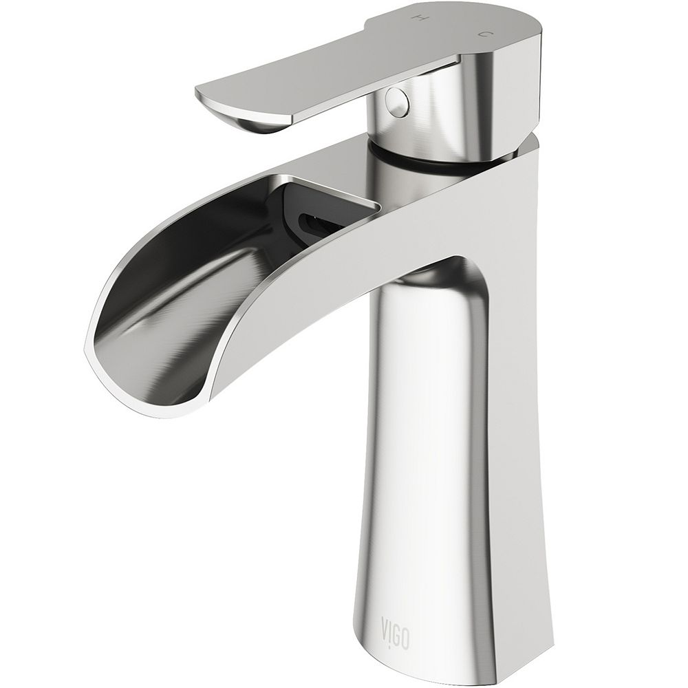 VIGO Paloma Single Hole Single Handle Bathroom Faucet in Brushed Nickel