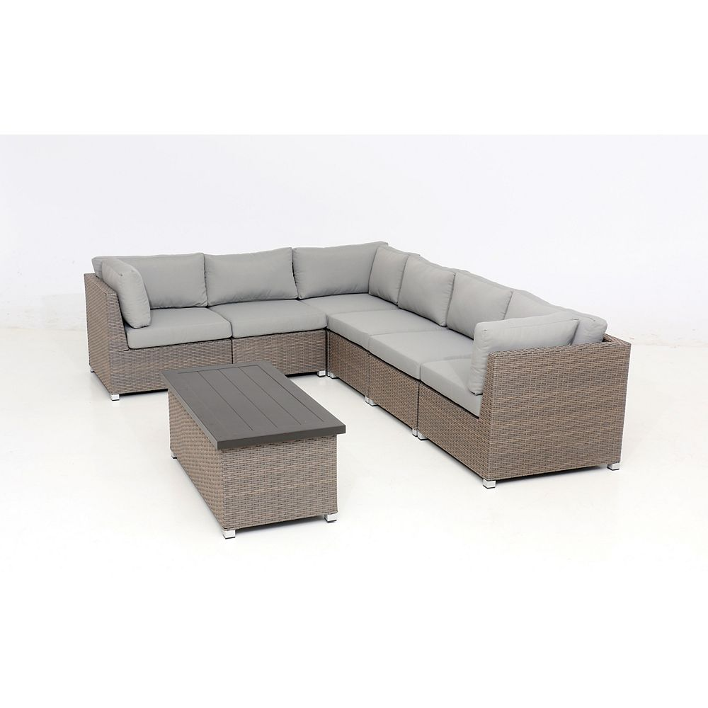 Think Patio Chambers Bay Collection 7.4 with Grey Cushions