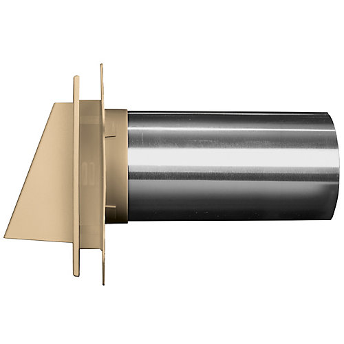 4 inch Hooded Dryer Vent 31 Tan