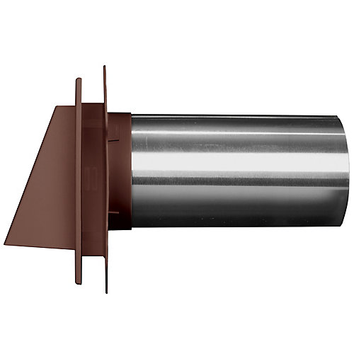 4 inch Hooded Dryer Vent 55 Spice/Mahog
