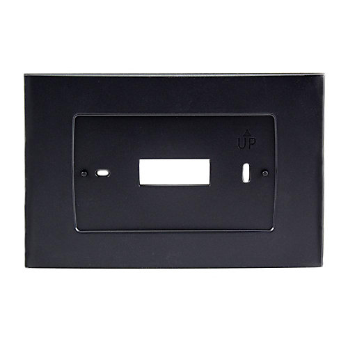 Wall Plate for Sensi Touch Wi-Fi Thermostat in Black