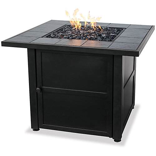 Endless Summer Outdoor Fire bowl with Slate Tile Mantel