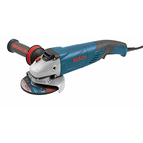5 inch 9.5 A Rat Tail Angle Grinder with No Lock-On Switch