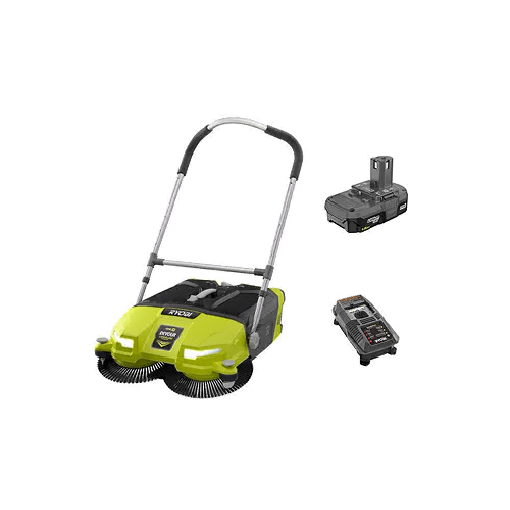 RYOBI ONE+ 18V Lithium-Ion Cordless 4.5 Gal. DEVOUR Debris Sweeper Kit with (1) 1.5 Ah Battery