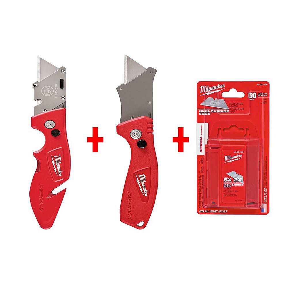 Milwaukee Tool FASTBACK and FASTBACK COMPACT w/ 50 Blades