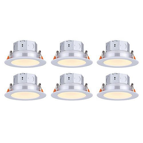 4-inch LED White Recessed Round Downlight (6-pack) - ENERGY STAR®