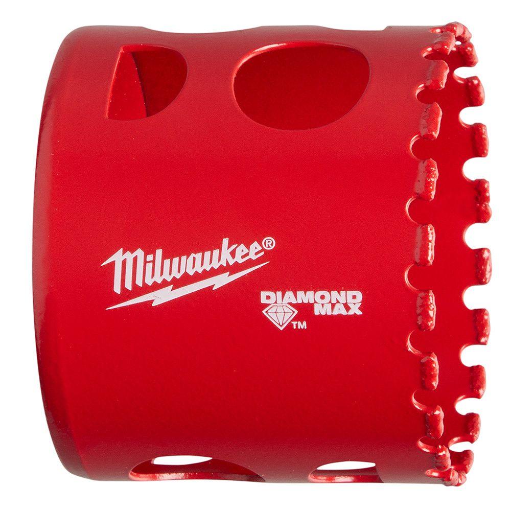 Milwaukee Tool Scie cloche diamantée de 2 po avec trou de 2 po