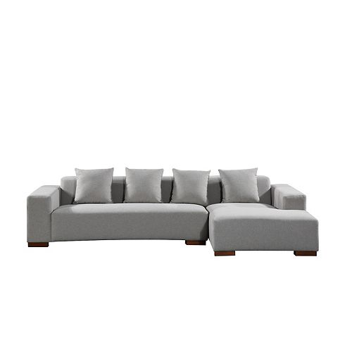 Lyon Light Grey Right-Facing Sectional Sofa