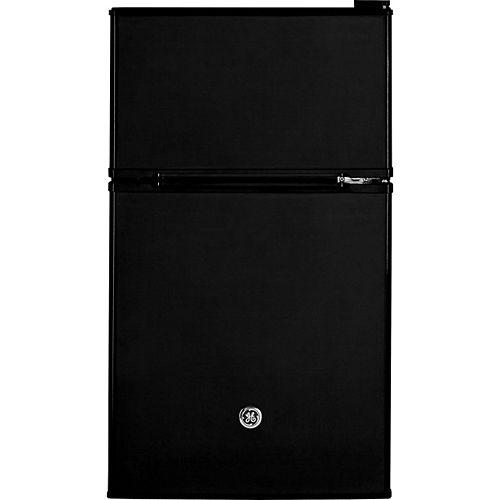3.1 cu. ft. Double-Door Mini Fridge in Black
