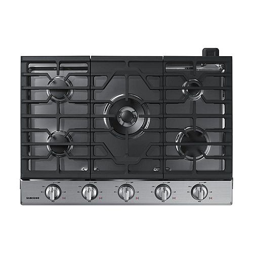 30-inch Gas Cooktop in Stainless Steel with 5 Burners including Power Burner with Wi-Fi