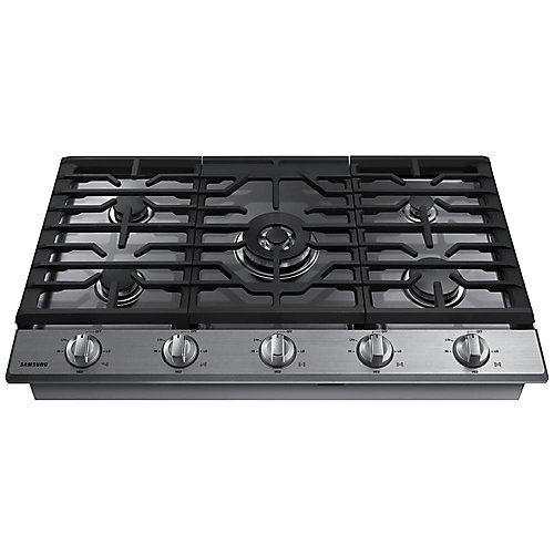 36-inch Gas Cooktop in Stainless Steel with 5 Burners including Power Burner with Wi-Fi
