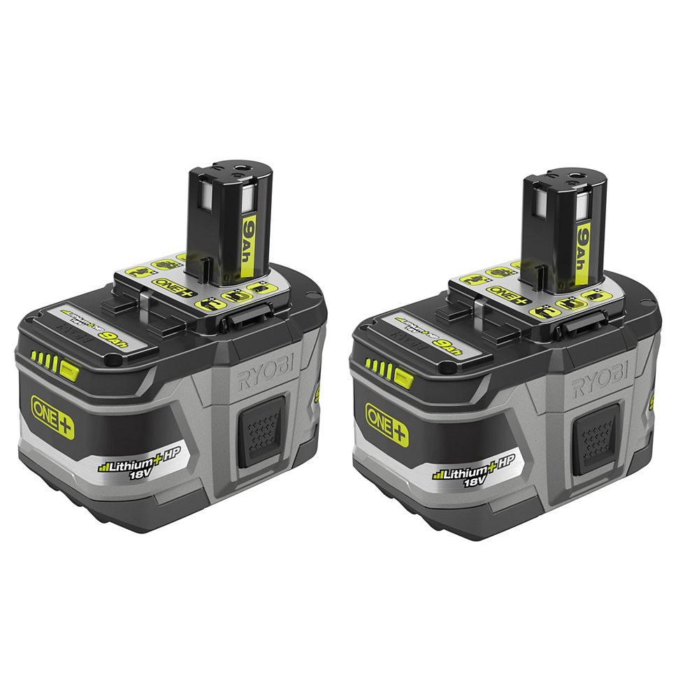 RYOBI 18V ONE+ Lithium-Ion LITHIUM+ HP 9.0 Ah High Capacity Battery (2-Pack)