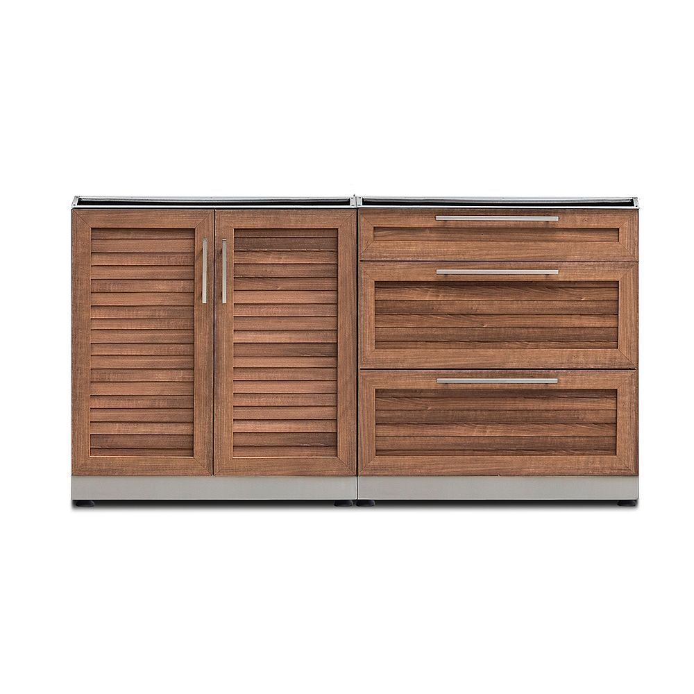 Newage Products Inc Outdoor Kitchen Grove 2 Piece 64 Inch W X 36 6 Inch H X 24 Inch D The Home Depot Canada
