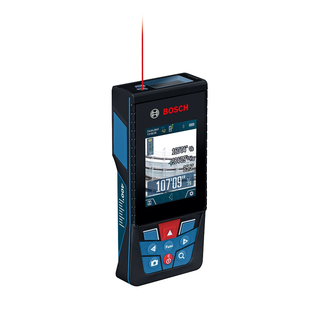 Bosch BLAZE Outdoor GLM400C 400 ft. Connected Laser Measure with Digital Viewfinder
