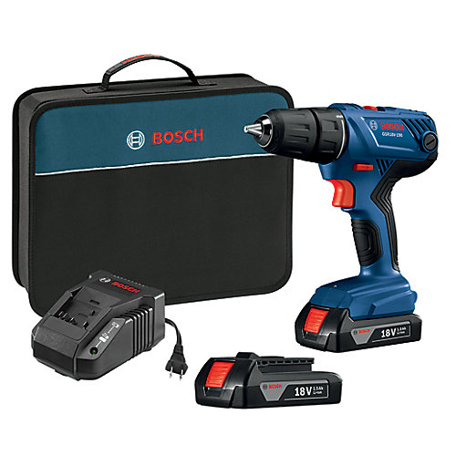 18V Compact 1/2-inch Drill/Driver Kit with (2) 1.5 Ah SlimPack Batteries
